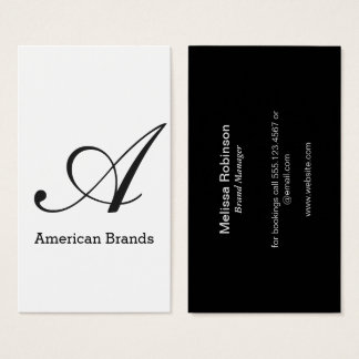 Serif Type Monogram (variation 3) Business Card