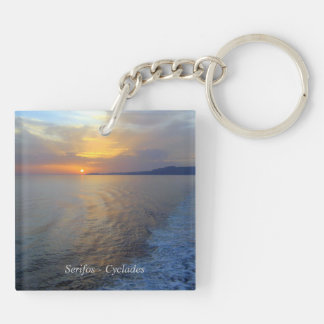 Serifos – Cyclades Square Acrylic Key Chains