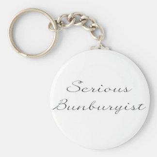 Serious Bunburyist Keyring Basic Round Button Key Ring