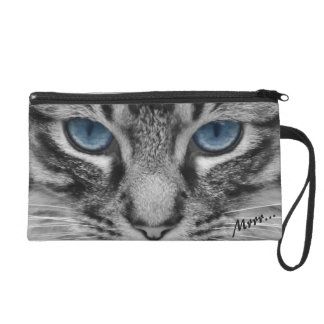 Serious Cat with Blue Eys Customizable Wristlets