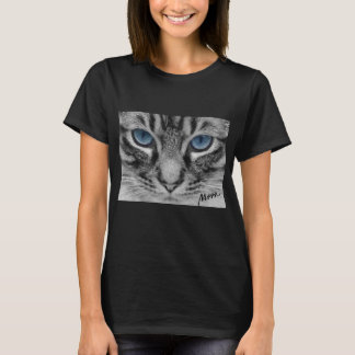 Serious Cat with Blue Eys T-Shirt