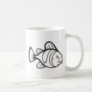 Serious Clown Fish in Black and White Mug