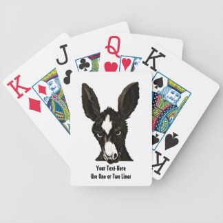 Serious Donkey Template-Customize With Your Text Bicycle Playing Cards