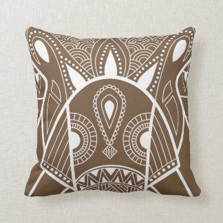 Serious Elephant One Brown Cushion