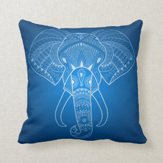 Serious Elephant Two - Blue edition Cushion
