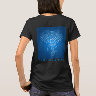 Serious Elephant Two - Two Sided Print T-Shirt