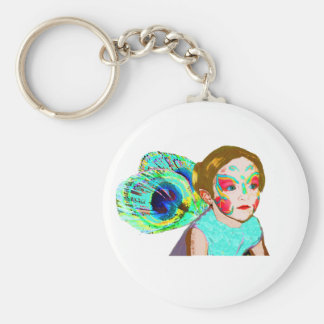 Serious Fairy Basic Round Button Key Ring