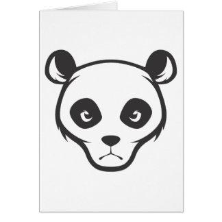 Serious Giant Panda Bear Greeting Card
