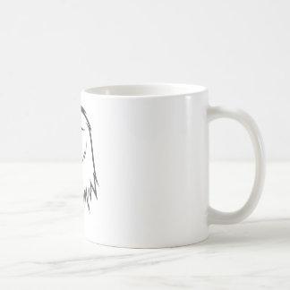 Serious Golden Eagle Bird in Black and White Basic White Mug
