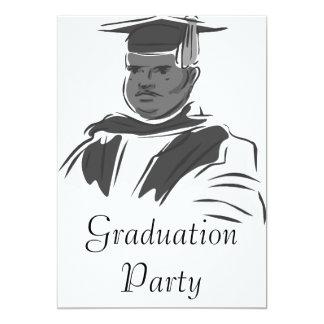 Serious Graduating Man 13 Cm X 18 Cm Invitation Card