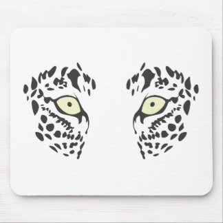 Serious Leopard Eyes Mouse Pad