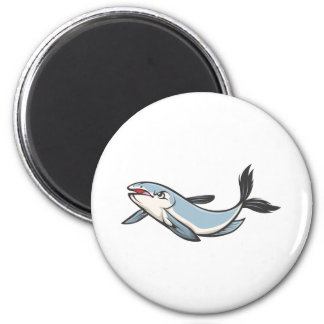 Serious Mekong Giant Catfish 6 Cm Round Magnet