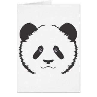 Serious Panda Bear Greeting Card