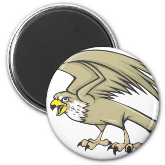 Serious Peregrine Falcon Bird 6 Cm Round Magnet