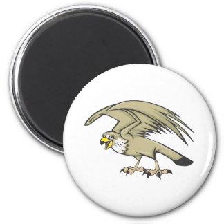 Serious Peregrine Falcon Bird Magnet