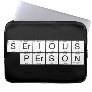 Serious Person Laptop Sleeve