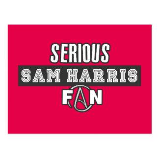 Serious Sam Harris Fan Postcard