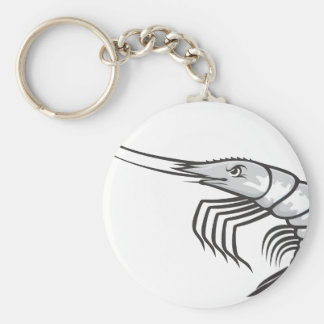 Serious Shrimp Basic Round Button Key Ring