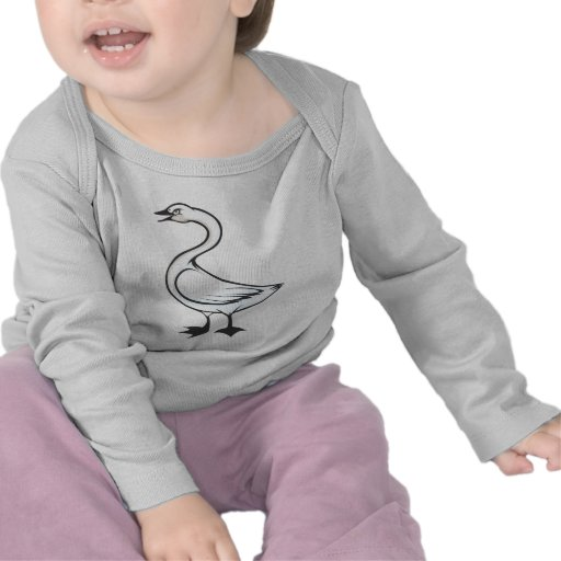 Serious Tundra Swan Bird T-shirts