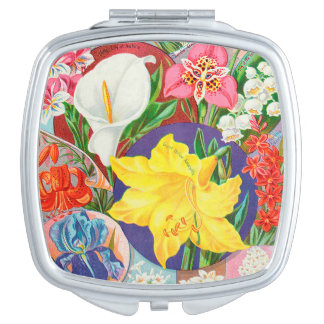 Seriously Floral Compact Mirror