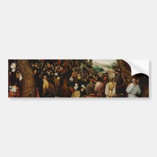 Sermon of St John the Baptist by Pieter Bruegel Bumper Stickers
