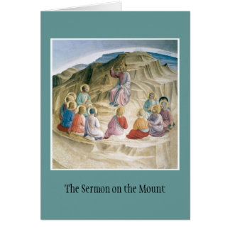 Sermon on the Mount notecard Note Card