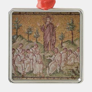 Sermon on the Mount Silver-Colored Square Decoration