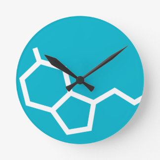 Serotonin Molecule - Happiness Round Clock