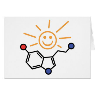 Serotonin Sunshine - Happiness is Chemistry Greeting Card