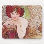 Serpent Art Nouveau Mouse Pad