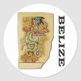 Serpent Pacal Classic Round Sticker
