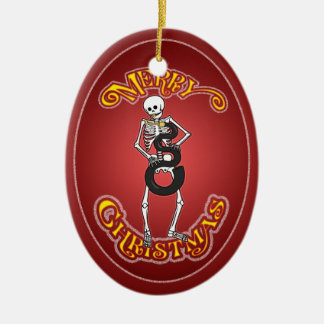 Serpent Player Skeleton Christmas Ornament