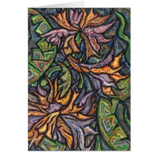 Serpentine Flowers Greetings Card