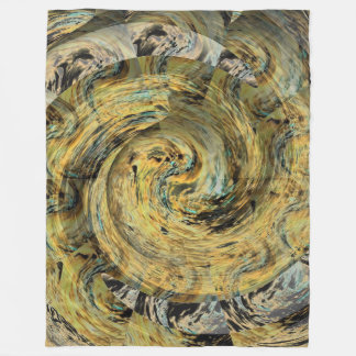 Serpentine Golden Snail Symbolic Gold Design Fleece Blanket