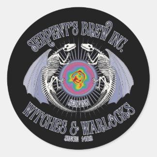 Serpent's Brew Inc. Classic Round Sticker
