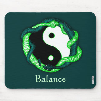 Serpents Dual (green) Mouse Pad