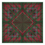 Serpinski's Squares Quilted Christmas Fractal Poster