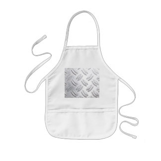 Serrated sheet background kids apron
