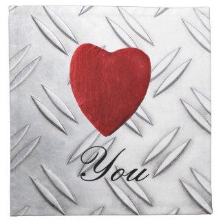 Serrated sheet background Love you Napkin