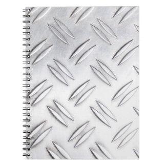 Serrated sheet background notebook