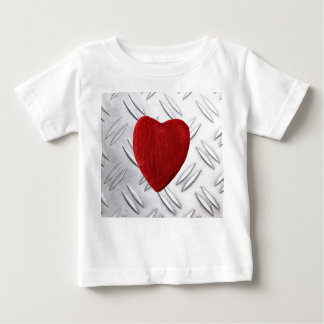 Serrated sheet background with heart baby T-Shirt