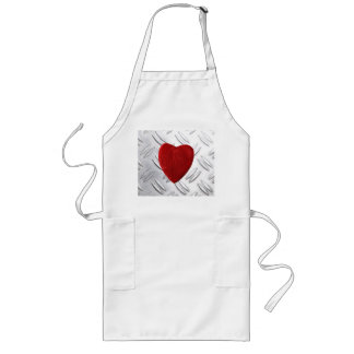 Serrated sheet background with heart long apron