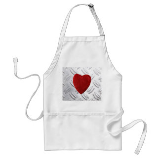Serrated sheet background with heart standard apron