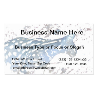 serval cat african feline watercolor blue business cards