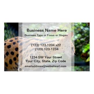 serval cat pallette knife style full color feline business card templates