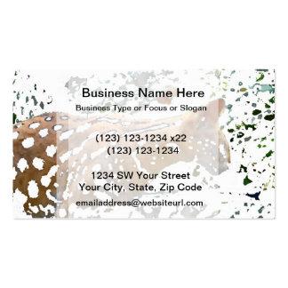 serval cat watercolor pale feline image business card