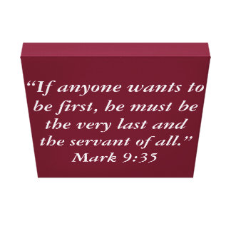 """Servant"" Scripture Wrapped Canvas"