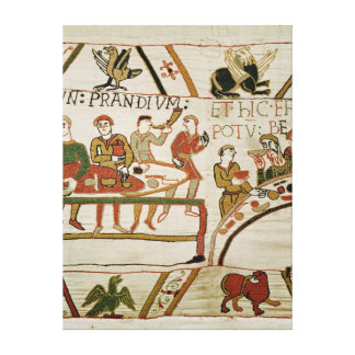 Servants prepare a banquet for William I Gallery Wrapped Canvas