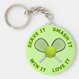 Serve It - Smash It - Win It - Love It Basic Round Button Key Ring