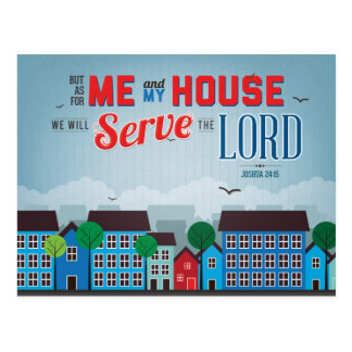 Serve the Lord Mousepad - Joshua 24:15 Bible Verse Postcard
